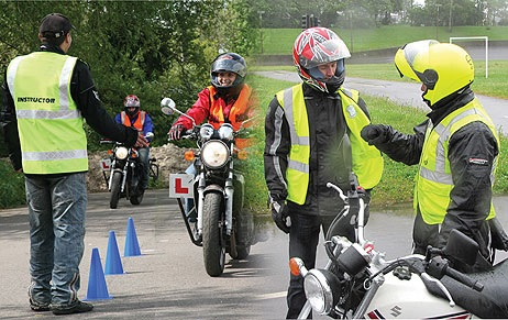 Motorcycle Instructor, teaching students